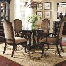 Antique Round Kitchen Table Glass Top Pedestal Dining Table Sets