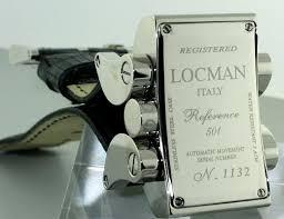 locman latin lover 050100bk0005lur locman automatic wrist watch screw on style held by screws