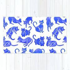 cat puzzle rug cat positions blue palette rug cat toy puzzle rug
