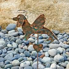 dachshund angel dog garden stake pet