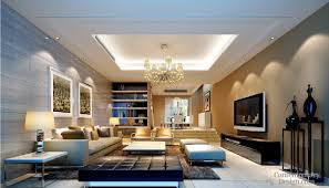 Small Picture Pop ceiling designs for large living room with flat screen TV