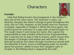 campbell high school podcast characterization 8 characters example little red riding hood