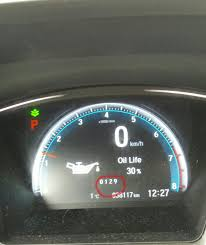 Honda Civic Oil Warning Light Solved 0129 Code Underneath Oil Life On Maintenance Menu