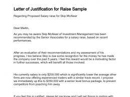 Raise Letter Sample Letter Of Justification
