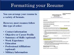 Easier to prepare and is generally successful; 9. Formatting your Resume ...