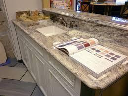 ultracraft cabinets kohler sink ogee contoured profiled edges rocky mountain granite