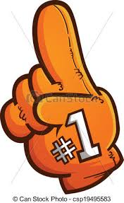 foam finger clipart. foam finger vector cartoon graphic - csp19495583 clipart 0
