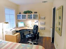 office in bedroom. guest bedroom office combo definitely not this color scheme but good layout for in