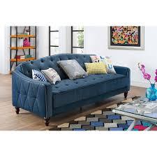 Blue Sofa Novogratz Vintage Tufted Sofa Sleeper Ii Blue Ebay