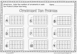 addition worksheets ten frame for kindergarten ravenheart throughout