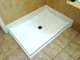 shower pan x solid surface new install swanstone base veritek reviews in