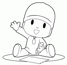 Small Picture Printable Pocoyo Coloring Pages Coloring Me