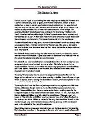 english sexton s hero essay gcse english marked by teachers com page 1 zoom in