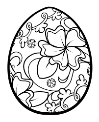 Floral Easter Egg Coloring Pages Batch Coloring