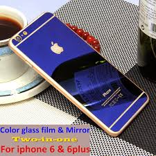 luxury front back mirror tempered glass protector for iphone 6 iphone 6 plus