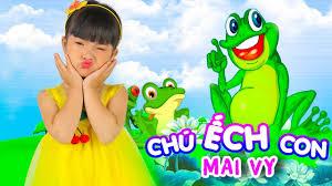 Nam Việt Thiếu Nhi - Chú Ếch Con ♥ Thần Đồng Âm Nhạc Bé MAI VY ♪ Nhạc Thiếu  Nhi Vui Nhộn Sôi Động Hay cho bé 2021