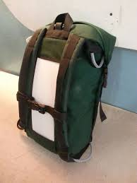 picture of sew a 20l simple roll top backpack base with a pocket for frame
