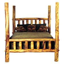 Log Bedroom Furniture Aspen High Post Log Bed High Poster Beds