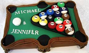 classic pool table cake