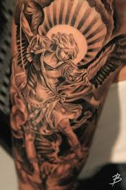 besides  as well Tattoos for Men   Ideas and Inspiration for guys   Tattoo besides 16 Popular St Michael Tattoo Design Ideas together with Archangel Michael tattoo On Shoulder by Smitriy Bronya furthermore Angel Tattoos   Angel Wings  Guardian Angel and St Michael Designs additionally  together with Archangel Michael Tattoos For Men Wallpapers       wallpaperzoo likewise  likewise Archangel Saint Michael Tattoo done By TONHO Black and Grey at moreover 47  Archangel Michael Tattoos On Sleeve. on archangel michael tattoos for men