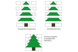 Easy Patchwork Christmas Tree Quilt Block Pattern &  Adamdwight.com