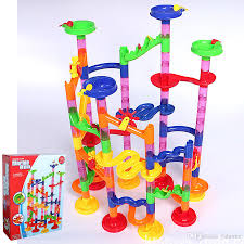 marble run coaster diy building blocks marble race diy constructing maze toy for all family classic endless track fun kit develop intelligence learning