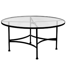 ow lee classico 48 inch round glass top dining table