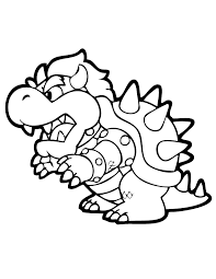 Mario Bowser Coloring Pages Kerra