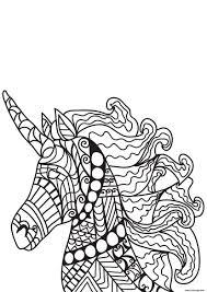 Coloriage Adulte Cheval Licorne Dessin