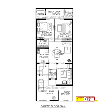 house plan for 24 feet by 60 feet plot plot size160 square yards