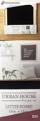 Urban House Design Letter Board Nib Felt Letter Board 12x12 Oak Frame Kit New In The Box