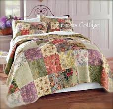 mulberry cottage french countryside quilt set pillow shams king or queen country duvet covers quilts