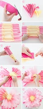 How To Make A Flower Out Of Tissue Paper Step By Step How To Make Paper Flowers Design Every Day