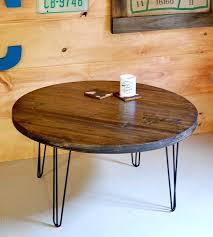 reclaimed wood round coffee table reclaimed wood round coffee table with hairpin legs home glass sun