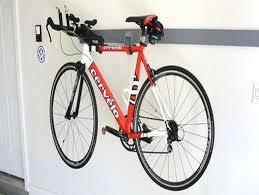 diy hanging bike rack garage design photo