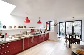 red pendant light for kitchen with contemporary clear dining and 2 concrete on 990x656 lighting 990x656px