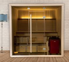 serenity infrared sauna glass exterior