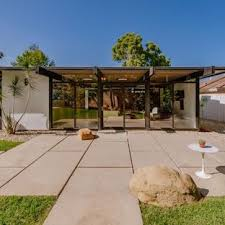covered stamped concrete patio. Patio - Mid-sized 1950s Backyard Stamped Concrete Patio Idea In Los Angeles Covered