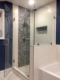 sofa glass showerures with half wall 97 fancy regarding shower ideas 17