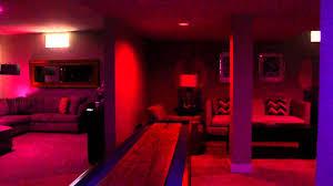 Philips Hue Lighting Youtube Philips Hue Lighting In Basement Media Room With Hue Disco