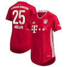 Women's adidas Thomas Müller Red Bayern Munich 2020/21 Home Replica Jersey