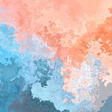abstract stained seamless pattern background salmon pink and baby blue colors modern painting art