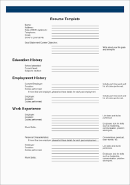Free Blank Resume Templates Great Blank Resume Template Best Of