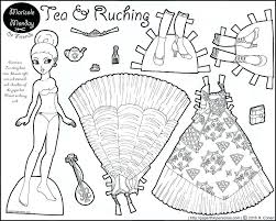 Paper Dolls Coloring Pages Barbie Doll Sheets Games Free Frozen