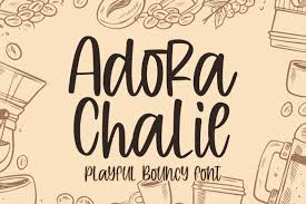 Instant downloads for 9 free cursive, dotted fonts. Adora Chalie Font By Blankids Studio Creative Fabrica