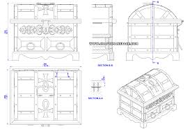 antique style jewelry box plan embly 2d drawing