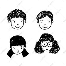 人の漫画の顔アイコン 人々は 漫画 ベクトル画像素材の無料ダウンロード