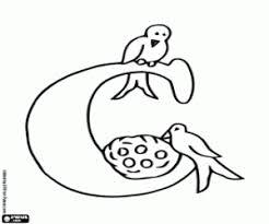 Kleurplaten Alphabet Vogels Kleurplaat