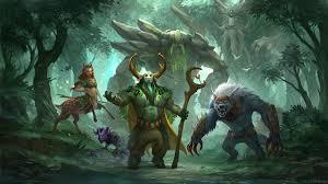 wallpaper dota 2 tiny riki enchantress ursa warrior treant protector