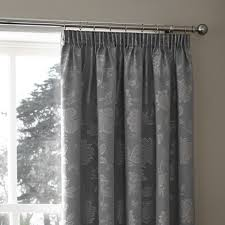 palmero silver thermal pencil pleat curtains